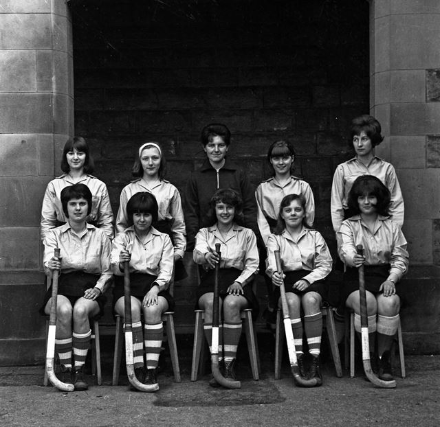 Hockey Team Portrait, Herbert Strutt School, Derby Road, Belper, c 1960s