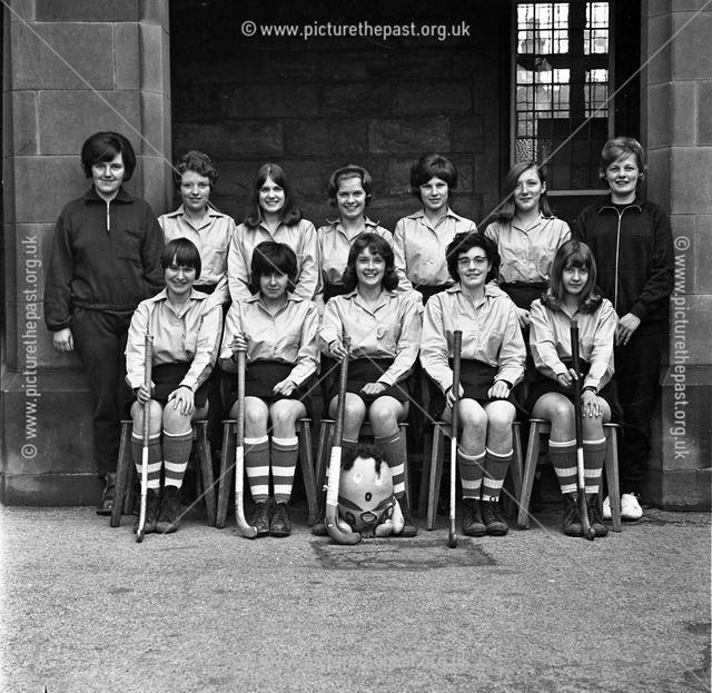 Hockey Team Portrait, Herbert Strutt School, Derby Road, Belper, c 1960s