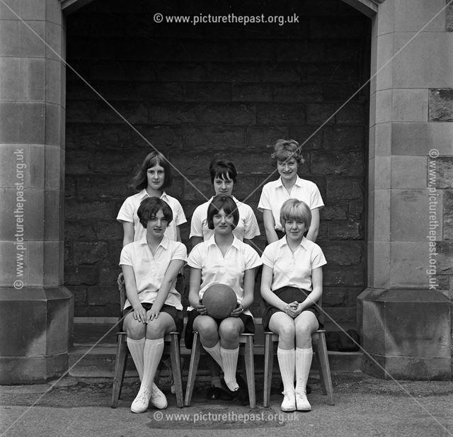 Girls' Netball Team, Herbert Strutt School, Derby Road, Belper, 1960s