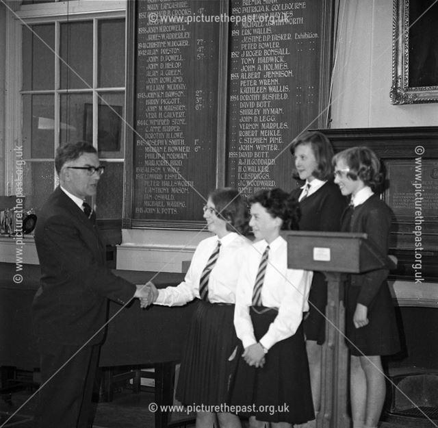 Prize Giving, Herbert Strutt School, Derby Road, Belper, c 1960s