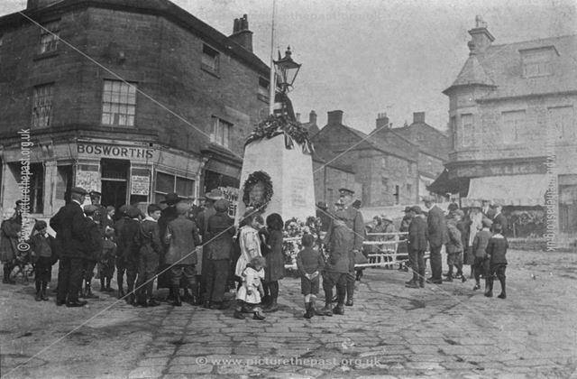 First World War Memorial Celebrations, Market Place, Belper, c 1910s