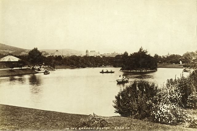 Boating Lake, Pavilion Gardens, c 1890
