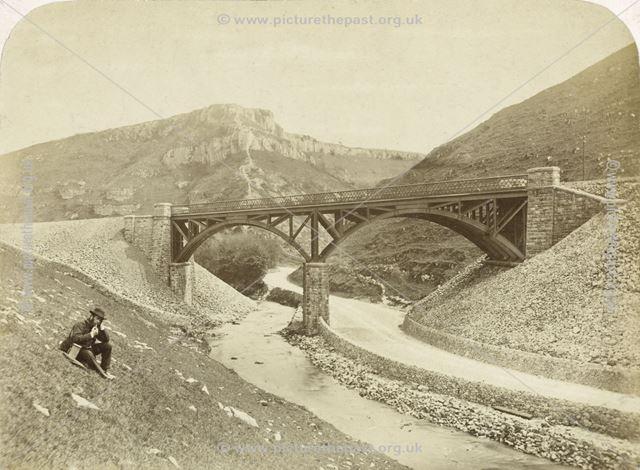 Man smoking pipe, Deep Dale Viaduct, Topley Pike