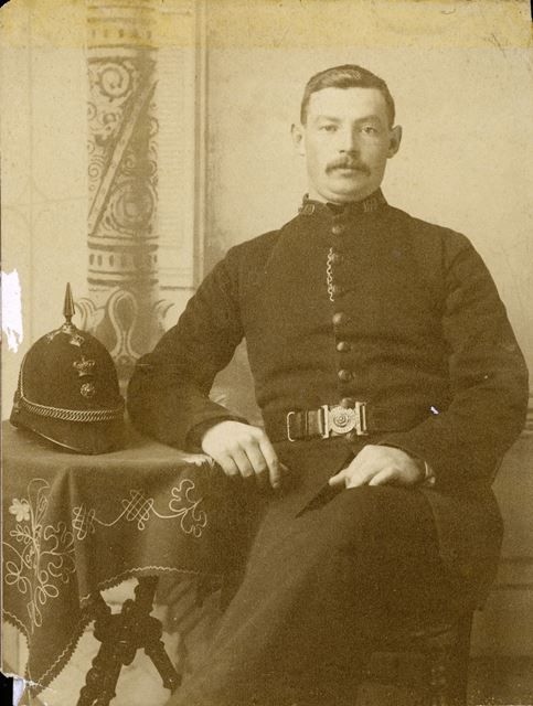 PC Holmes, Ripley Station 1891 collar number 159