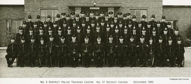 No. 3 District Police Training Centre, No. 57 Recruit Course, Epperstone?, 1950