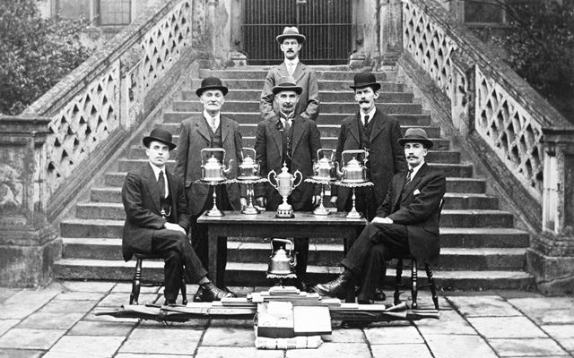 St John's Ambulance Brigade with trophies