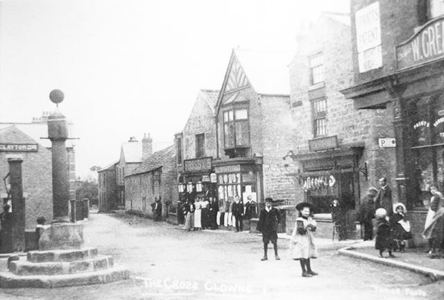 The Cross and shops on Church Street, Clowne