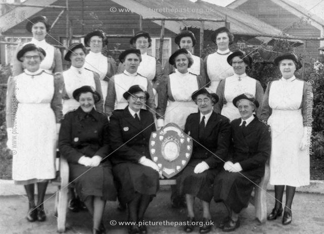 St John's Ambulance Nursing Division Group with trophy