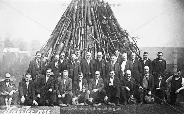 Bonfire for King George V Silver Jubilee Celebrations
