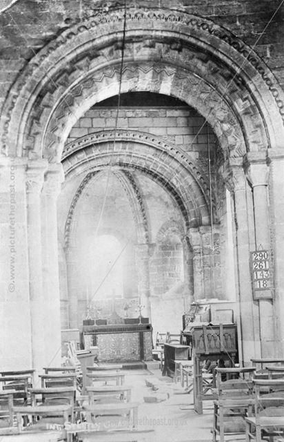 Interior of Steetley Chapel, Scratta Lane, Steetley, c 1900