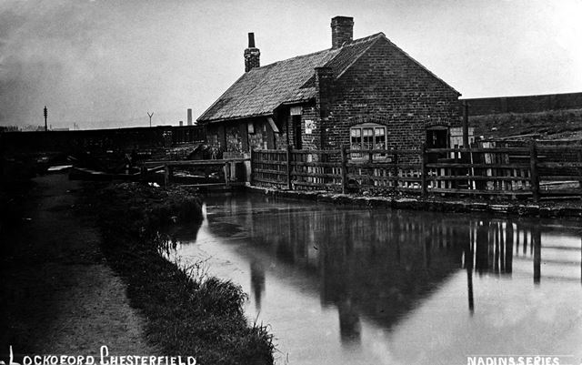 Chesterfield Canal at Lockoford, c.1900