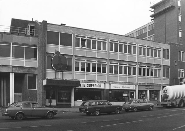 Site of Crown Hotel, 1980