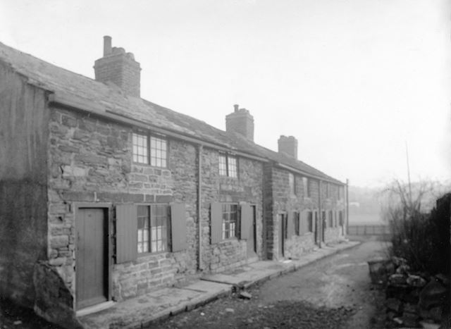 Fronts of stone cottages