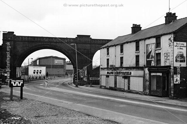 Horns Bridge, Derby Road, Chesterfield, 1975