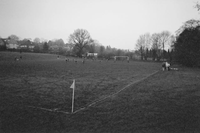 Football in the Recreation Ground, Loads Road, Holymoorside, Chesterfield, 2004