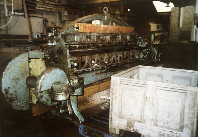 Some of the Historic Machinery still in use, Clayton Tannery, Chesterfield, 2004
