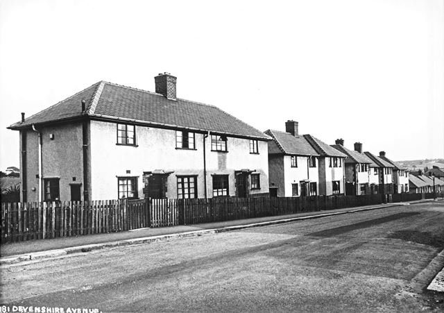 Devonshire Avenue North, New Whittington, Chesterfield, c 1935-6