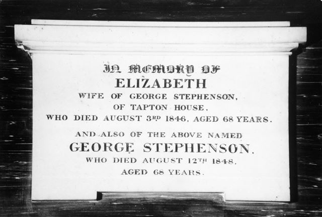 Stephenson Memorial Stone, Holy Trinity Church, 31 Newbold Road, Chesterfield, 1997
