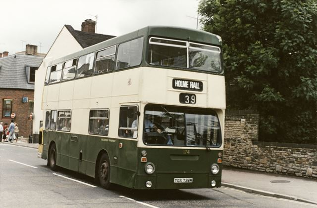Chesterfield Transport Double Deck Bus No 174, Rose Hill, Chesterfield, 1988
