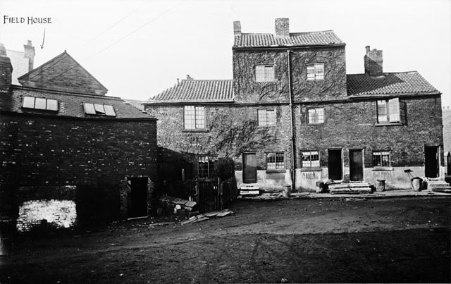 Brewery Yard showing Field House, off Chatsworth Road, Brampton, Chesterfield, 1934