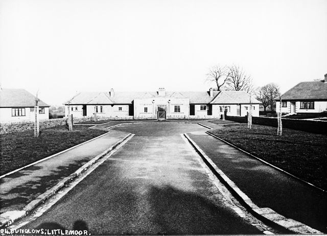 Corporation old people's bungalows, off Littlemoor Crescent, Newbold, Chesterfield, c 1930s