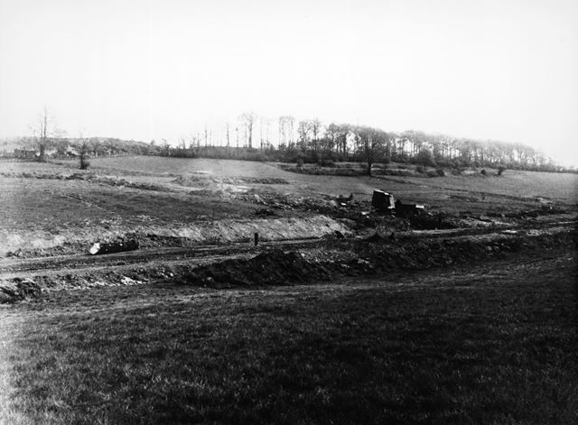Construction of Lancaster Road, Newbold, Chesterfield, c 1930s