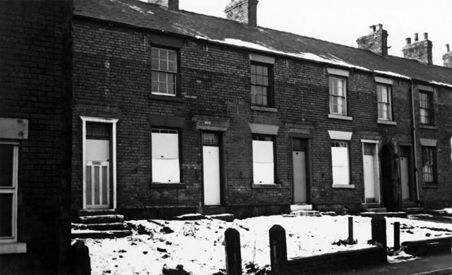Housing Prior to Demolition, South Street, New Whittington, Chesterfield, 1973