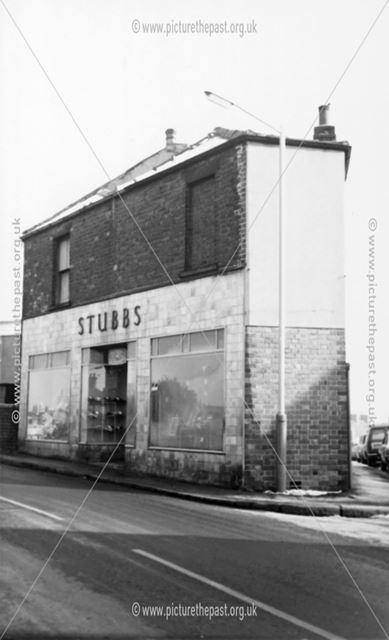 Stubbs' Shop, High Street, New Whittington, Chesterfield, 1973