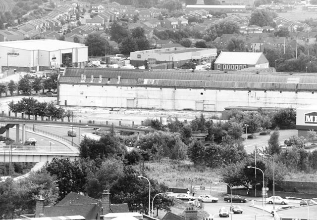 Lordsmill Street View South to Derby Road, Chesterfield, 2000