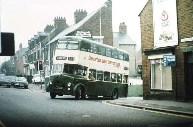 Corporation Bus, Ashgate Road, Chesterfield, c 1970