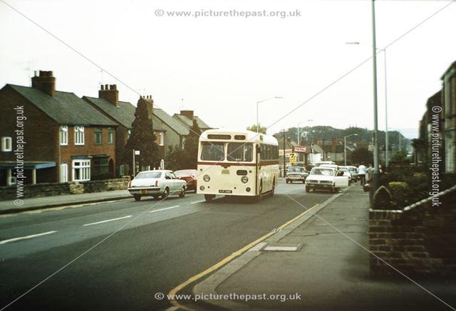 Hulley's Bus, Chatsworth Road, Brampton, c 1970