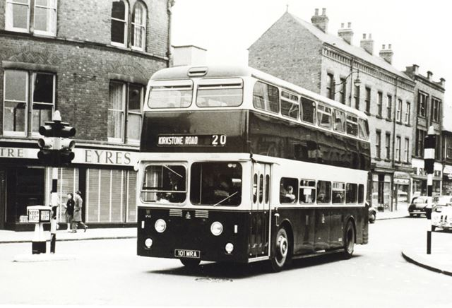 Corporation Bus, Cavendish Street, Chesterfield, c 1965 ?
