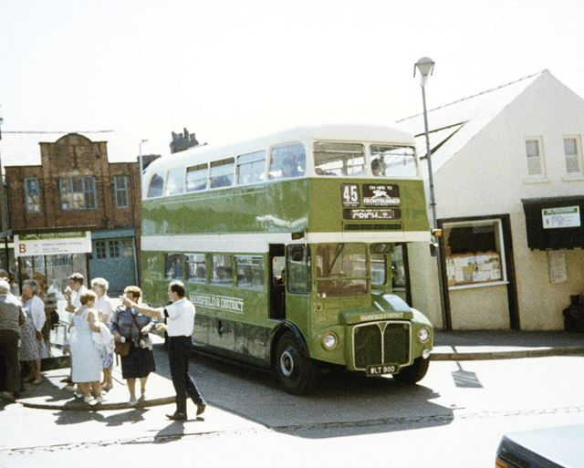Mansfield and District Bus, Tontine Road Bus Station, Chesterfield, c 1965