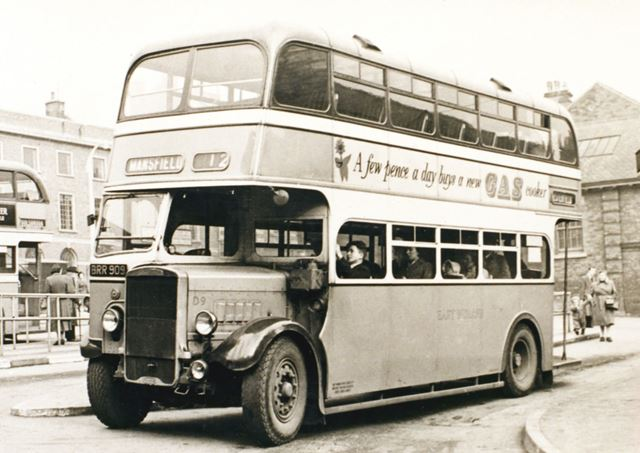 East Midlands Bus, New Beetwell Street Bus Station, Chesterfield, c 1955