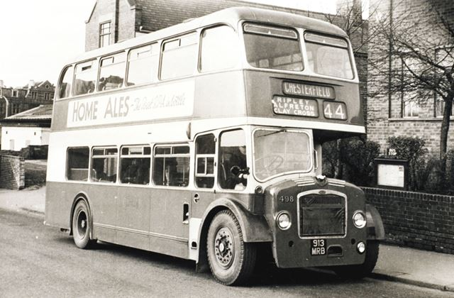 Midland General Bus, New Beetwell Street, Chesterfield, c 1965