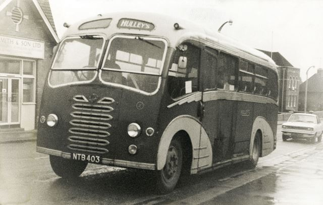 Hulleys Bus, New Beetwell Street, Chesterfield, c 1965
