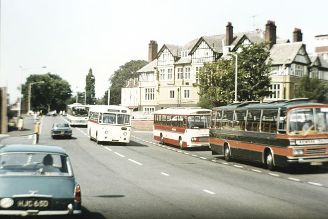 Hulleys Bus, New Beetwell Street, Chesterfield, c 1970