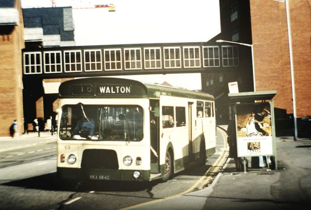 Walton Bus, New Beetwell Street, Chesterfield, c 1980