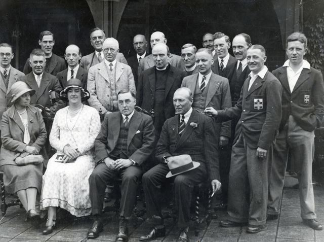Group at Toc H garden party, Somersall Lane, Brampton, Chesterfield, c 1927