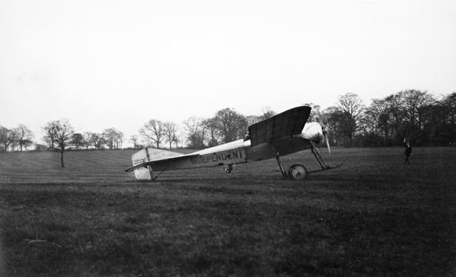 Blackburn aeroplane, Brampton, Chesterfield, c 1913