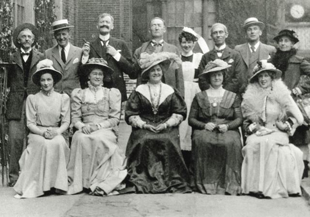 The cast of 'When We Are Married', Brampton, Chesterfield, 1942
