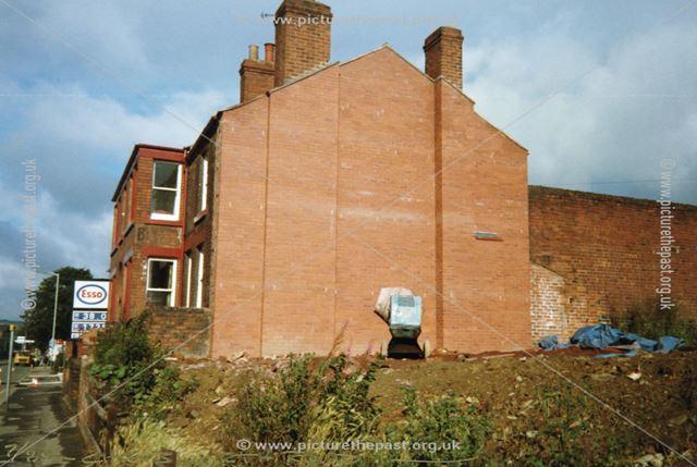 Demolition site on Chatsworth Road, Brampton, Chesterfield, 1988