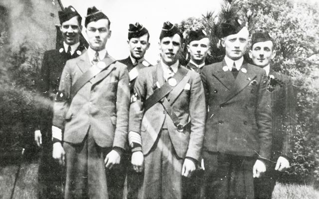 1st Chesterfield Company Boys Brigade members, Brampton, Chesterfield, 1937