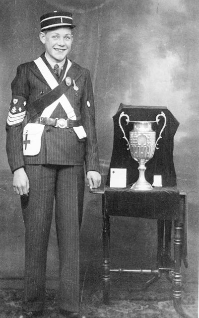 Sgt Ted Tomlins, 1st Chesterfield Company Boys Brigade, Brampton, Chesterfield, c 1936-7