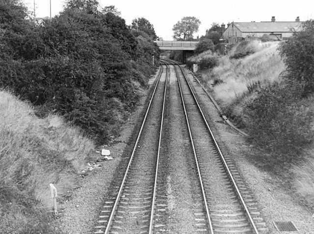 Railway lines at Lowgates, 1988