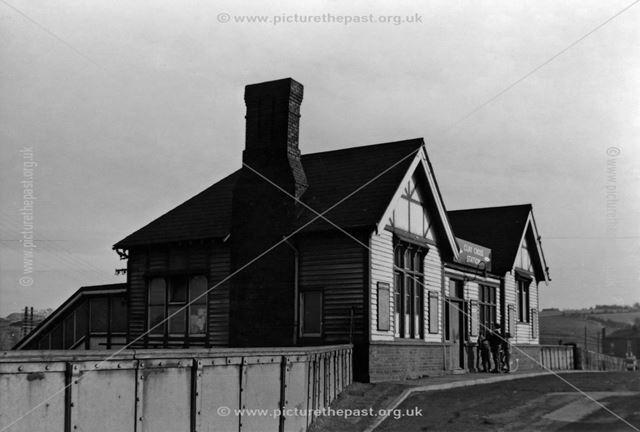 Railway station, Station Road, Clay Cross, 1964