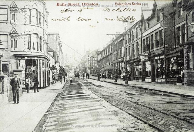 Outside Midland Station, Bath Street, Ilkeston, c 1900s