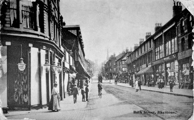 Looking South, Bath Street, Ilkeston, c 1905