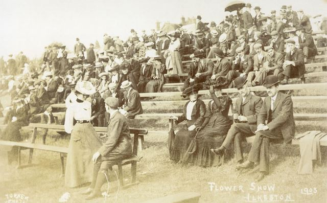 Flower Show Audience, Pimlico Recreation Ground, Ilkeston, 1905