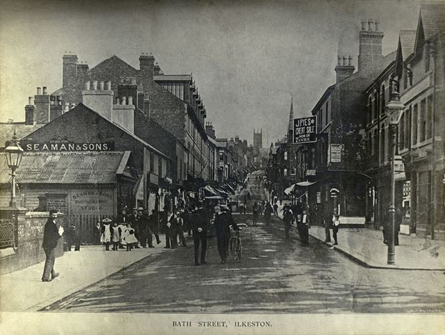 Bath Street, Ilkeston, c 1900s